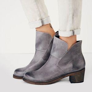 Free People 38 Brooks Ankle Boots Grey